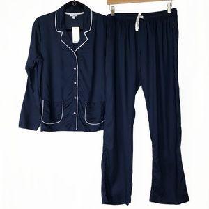 New Splendid S PJ Set Woven Rayon Navy Pajamas